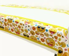 EMOJI TABLE CLOTH COVER TABLECLOTH SMILEY FACE BIRTHDAY PARTY LOLLY LOOT BAG