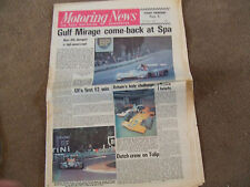 Motoring News 10 May 1973 Pau F2 Francois Cevert Spa 1000kms Daimler Double Six