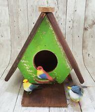 Wooden Bird Nest Birdhouse Thailand Medium Handmade Vintage Garden Hanging Decor