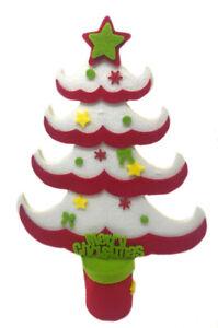 Alberello di natale in feltro albero puntale a stella decorazioni natalizie