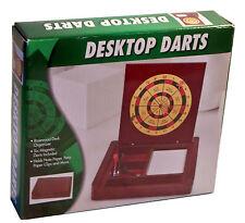 Desktop Darts Rosewood Desk Organizer w/6 Magnetic Darts Holds Desk Supplies