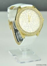 Free Ship USA Ladies Watch Prime GUESS White Leather New Chic Collections Lovely