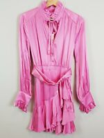 BARDOT | Womens Rachelle Frill Pink Dress NEW RRP$159.99 [ Size AU 8 or US 4 ]