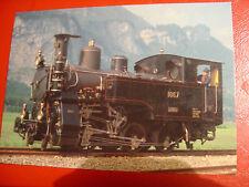 AK Postkarte Dampflokomotive HG 3/3 1067 BJ 1910 Ballenberg Dampfbahn Brüning