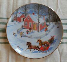 The Race Through Town - Christmas Plate (1) Danbury Mint - Charlotte Sternberg