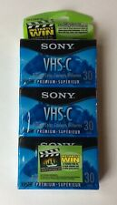 New! 3-Pack Sony Vhs-C Brilliant Color Premium Sp 30/Ep 90 Tc-30Vhgl Sealed