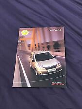 Brochure: Toyota Yaris Verso - 2000 includes Premium Pack