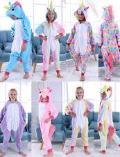 Unicorn Fleece Pyjama Kigurumi Kids Pajamas Costume Girls Costume Animal Onesie0