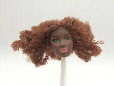 Fashion Royalty Integrity 1/6 scale dark skin female doll head repaint reroot