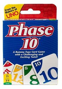 Phase 10 CARD GAME Children Friend Adult Family Fun Travel Party -ws