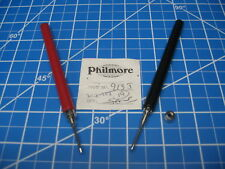 Philmore Solderable/Solderless Test Probes - 912J&913J - 1 Pair Red/Black
