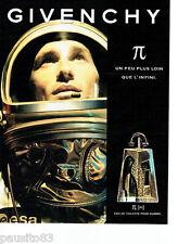 PUBLICITE ADVERTISING 096  1998  Givenchy eau toilette homme PI