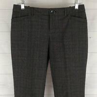 MOSSIMO Womens Size 2 Stretch Black Gray Checks Bootcut Dress Career Pants EUC