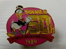 Vintage Disney Official Trading Pin# 57C Donald 50th For He'S Jolly Good Fellow