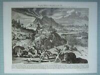 1903 Naturale Storia Tedesco Stampa Eccezionale Terremoto Tokio 1650 Jedo