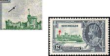SEYCHELLES GV 1935 SILVER JUBILEE 12c SG 129 BIRD IN THE SKY UNLIST VARIETY MINT