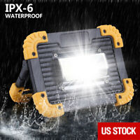 20W COB LED Work Light Rechargeable Inspection Flashlight Flood Lamp stand US