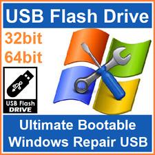 Huge Windows Repair Suite/Tools/Utility 32/64 bit XP/Vista/7/8/10 Bootable USB