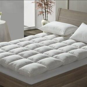 NEW Duck Feather & Down Mattress Topper Hotel Quality-Single-Double-King-S.King