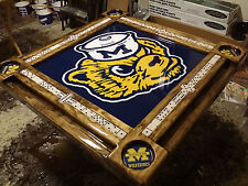Domino Table Michigan Wolverines Theme w/YOUR NAME ADDED Domino Tables by Art