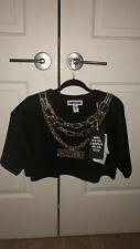 Moschino H & M Shirt With Gold Link Chain Design