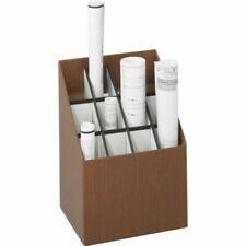 Safco Upright Roll Storage Files Wood Grain Plastic Fiberboard