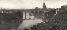 TARN. Albi et le cours du Tarn 1900 old antique vintage print picture