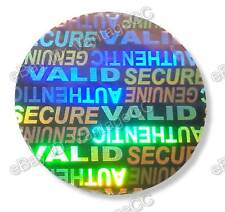 125x LARGE 25mm Round Hologram Stickers, UNNUMBERED Hologram Labels, SVAG SECURE