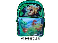 "Disney Pixar the Good Dinosaur Boys Girls  16"" Canvas Green Backpack-1598"