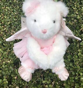 Victoria's Secret Pink Ballerina Angel Wings Gund Teddy Bear Stuffed Plush