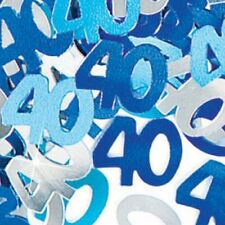 40th Happy Birthday Blue Party Glitz Table Confetti Sprinkles Decorations - 14g