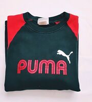 PUMA Vintage Men's Red& Black Long Sleeve Crew Neck Cotton Blend Sweatshirt Sz M