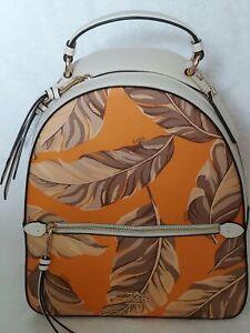 New Coach Jordyn Backpack Banana Leaves Print Multi NWT MSRP: $398.00