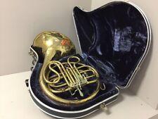 Vintage CG Conn LTD USA Single French Horn W/ Case