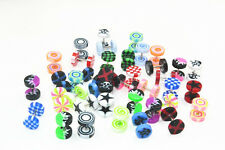 LOT100pcs Colorful Cheater Ear Plugs Earring/Stud  Illusion Fake Plugs Taper 8mm