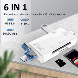 USB 3.0 Kartenleser 6-in-1 Multifunktions-ABS, einzigartig für Mobiltelefone