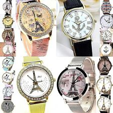 Women Men Anchors Eiffel Tower & Famous Landmarks Analog Quartz Wrist watch