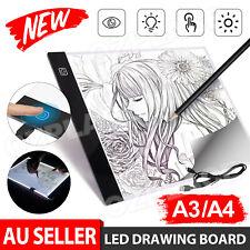 A3 A4 A2 LED Light Box Tracing Drawing Board Stencil Tattoo Art Design Copy Pad