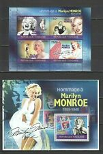 TG1231 2010 TOGO FAMOUS PEOPLE TRIBUTE TO LEGENDARY MARILYN MONROE BL+KB MNH