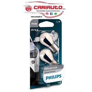 Coppia Lampadine Philips 12V 21W PY21W Arancio 12496SVB2
