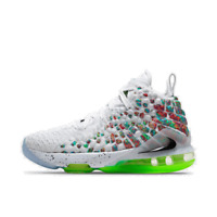 GS Nike LeBron 17 Basketball Shoes White/Black/Multi-Color BQ5594 100