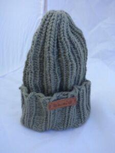 Rib Stitch Olive Green Hat -Kids one size - age 4 -9yrs - hand made - Brand New