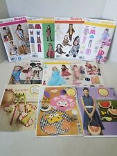 NEW LOT OF 10 VARIOUS SEWING PATTERNS~SIMPLICITY~ellie mae~DRESS~COSTUME