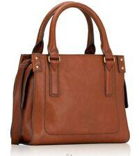 NWB Fossil Claire Brown Leather Mini Satchel Crossbody SHB2070213 $198 Dust Bag