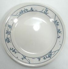 "Corelle Dinner Plate FIRST OF SPRING 10-1/8""  White Flowers Blue Leaves 1988"