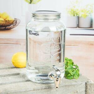 WOW GLAS GETRÄNKESPENDER mit Hahn 3 Liter - Spender Einmachglas Zapfhahn