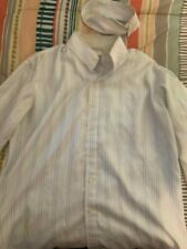 Tailored Sportsman striped show shirt w/removable collar size 14