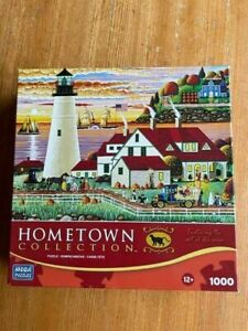 HOMETOWN COLLECTION 1000 PIECE JIGSAW PUZZLE TRICK OR TREAT CUTE PICTURE