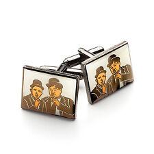 Quality Laurel & Hardy Badge Cufflinks Great Bargain!!