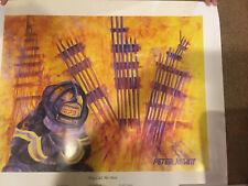 Firefighter/'s Noble Call By Jason Bullard Framed Print poem